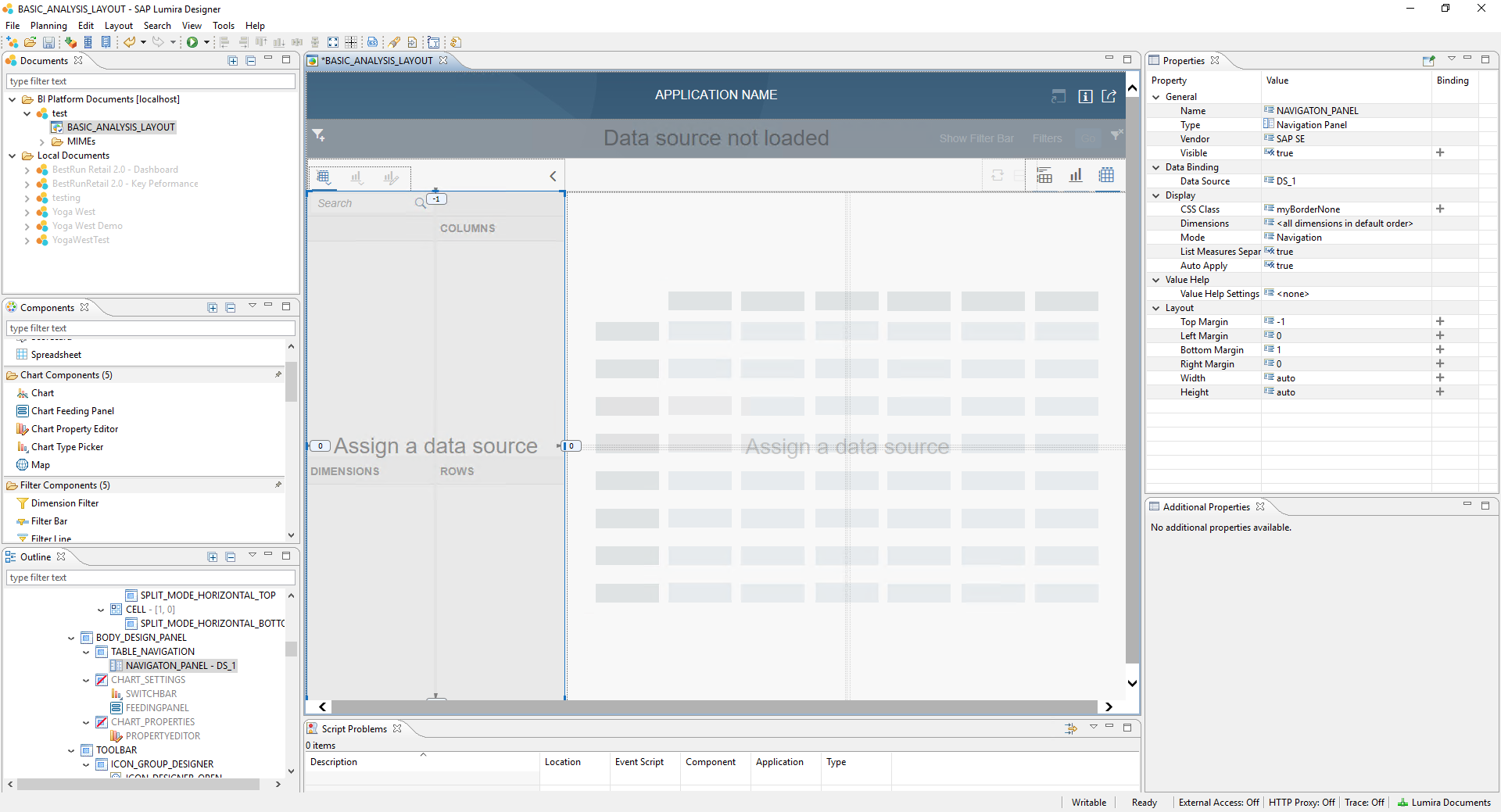 The Lumira Designer developer view